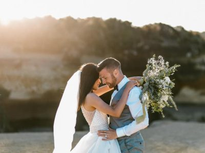 New Zealand is full of beautiful places for elopement wedding photography especially during the golden hour