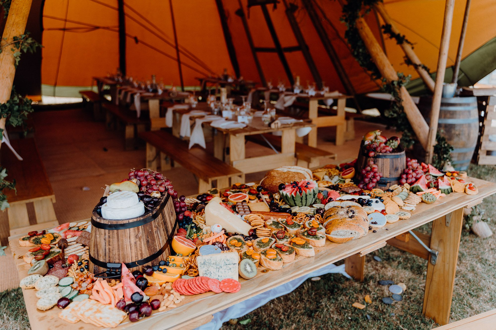 Wedding Photography Of Grazing Table Ideas 024. A country and rural themed grazing table.
