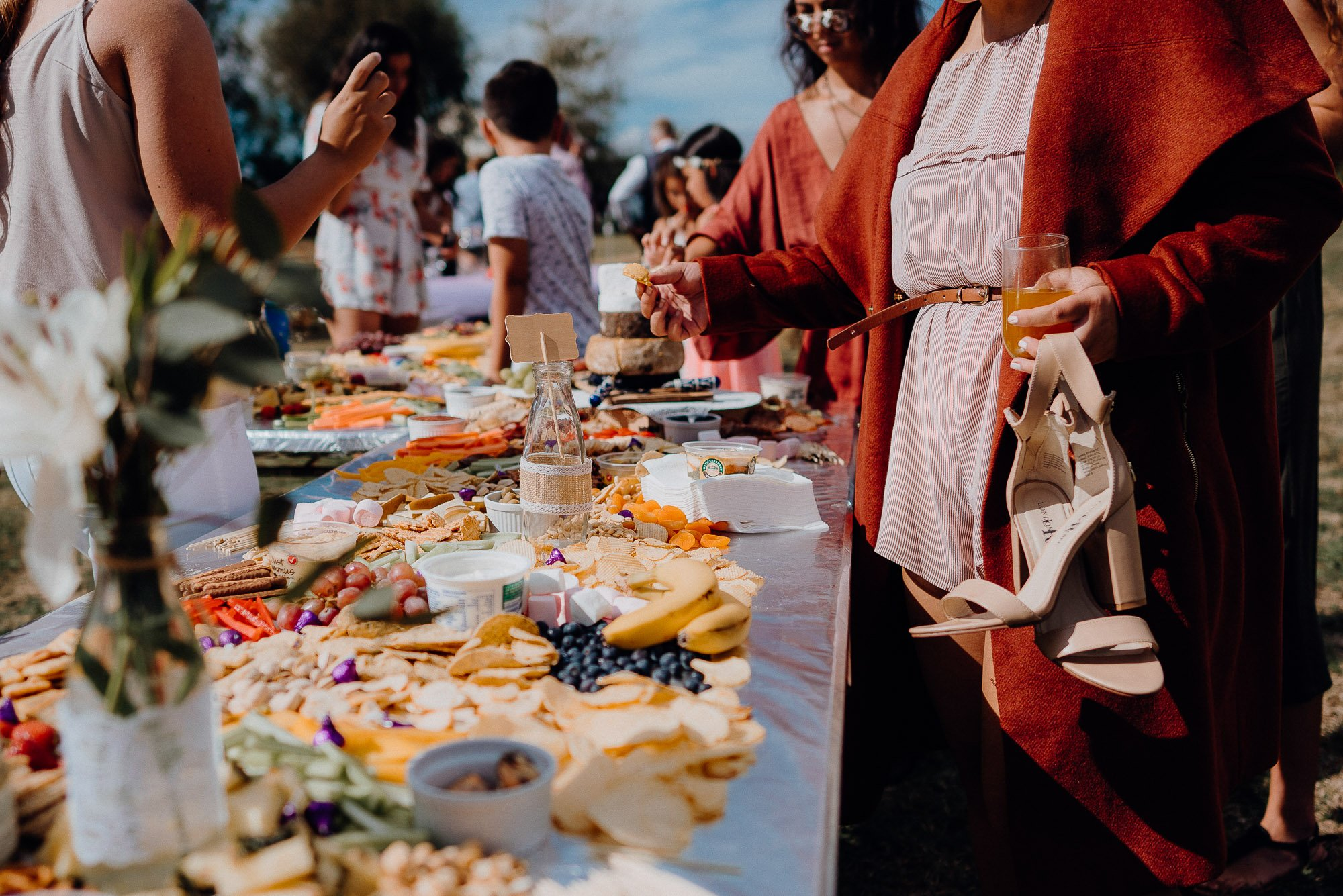 Wedding Photography Of Grazing Table Ideas 028. A more basic grazing table with plenty of food all spread out.