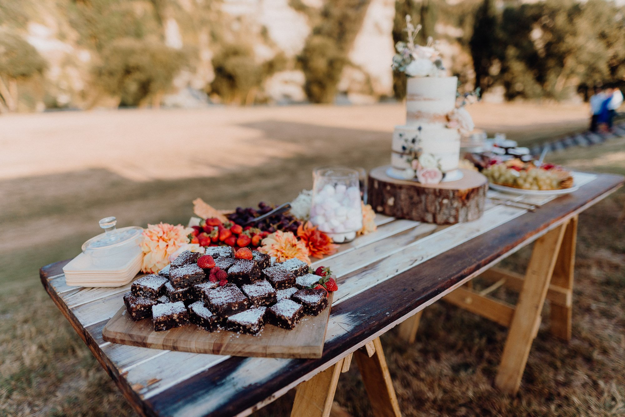 Wedding Photography Of Grazing Table Ideas 038. A desert theme grazing table to go with the wedding cake.